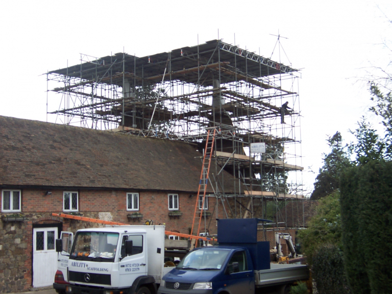 Temporary Roofs Kent and Maidstone - Ability Scaffolding